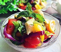 橄榄油醋汁什锦蔬菜沙拉#黑人牙膏一招制胜#的做法