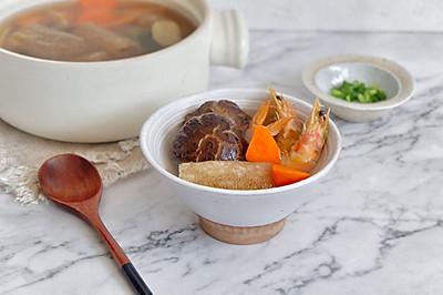 鲜虾四宝汤