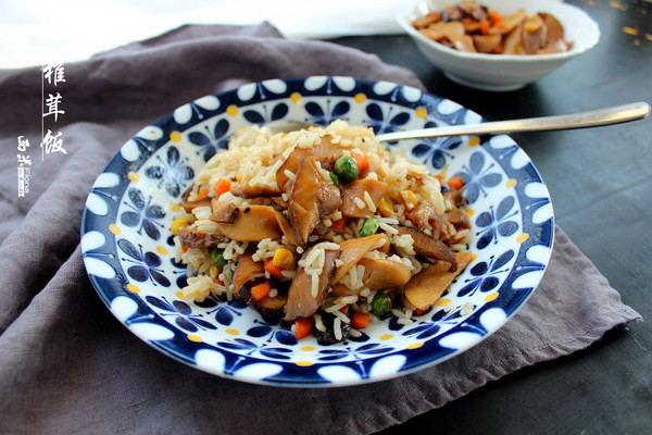椎茸拌饭的做法