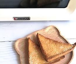 #海氏烤箱狂欢记#黄油蜂蜜吐司片的做法