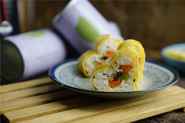 时蔬鲜米寿司的做法