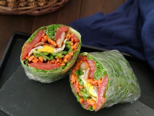 减脂餐|关晓彤款生菜夹心三明治的做法