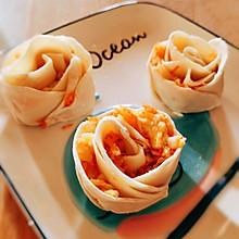 #巨下饭的家常菜#7岁小厨师送你玫瑰花饺子