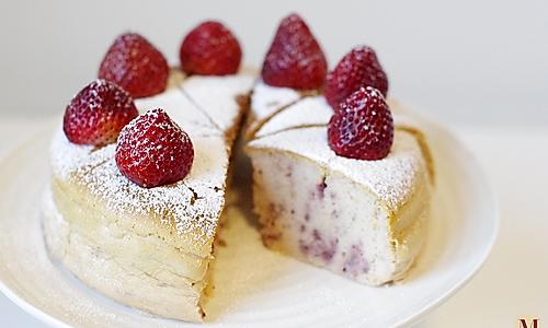 草莓轻乳酪蛋糕/轻芝士蛋糕的做法