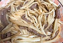 茭白炒肉丝的做法