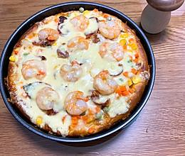 媲美必胜客的鲜虾香肠披萨的做法