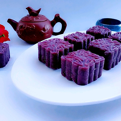 蔓越莓紫薯月饼