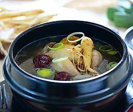 冬进补养生-韩式人参鸡汤的做法