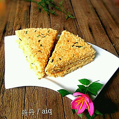 鸡蛋米饭饼#剩米饭的华丽变身