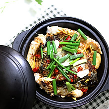 快手家常菜:鱼头豆泡(炸豆腐)煲