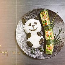 #餐桌上的春日限定#翠竹熊猫饭
