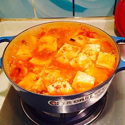 米饭的绝配—泡菜豆腐锅(铸铁锅版)