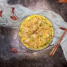 饺子就酒越吃越有-韭菜肉抱鸡蛋煎饺