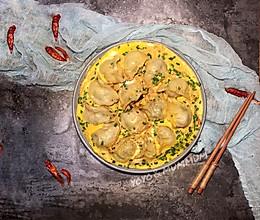 饺子就酒越吃越有-韭菜肉抱鸡蛋煎饺的做法