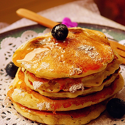 简单美味的快手甜品----蓝莓麦香饼