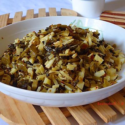小笋炒酸菜