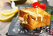 小羽私厨之鲜虾口袋三明治的做法