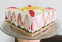 草莓香橙乳酪酸奶芝士蛋糕的做法