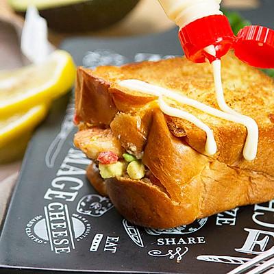 小羽私厨之鲜虾口袋三明治
