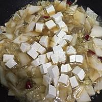 大喜大牛肉粉试用之一 酸菜炖豆腐的做法图解6
