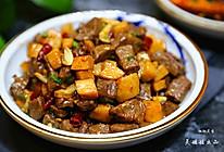 孜然杏鲍菇牛肉粒的做法