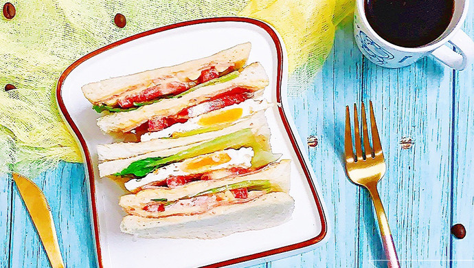 #一人一道拿手菜# 培根三明治