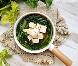 #精品菜谱挑战赛#苔菜豆腐虾皮鲜汤的做法