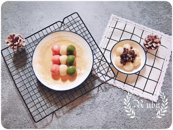 日式传统甜品:日式団子& 三色花見団子的做法