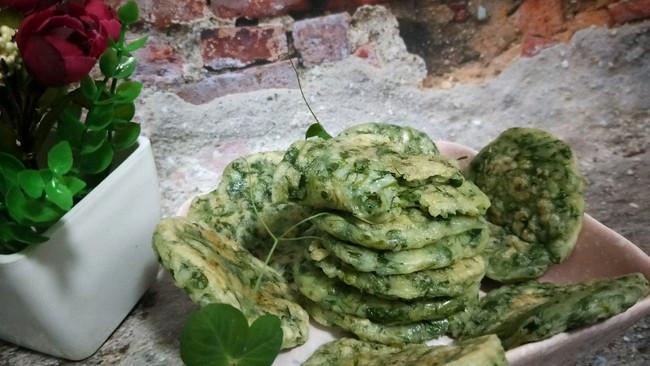 豌豆苗糯米饼的做法