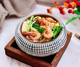 苔菜海虾粉条一锅炖的做法