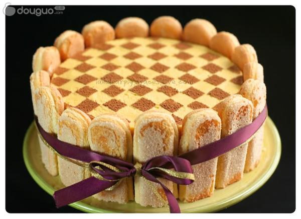 芒果棋格慕斯蛋糕的做法
