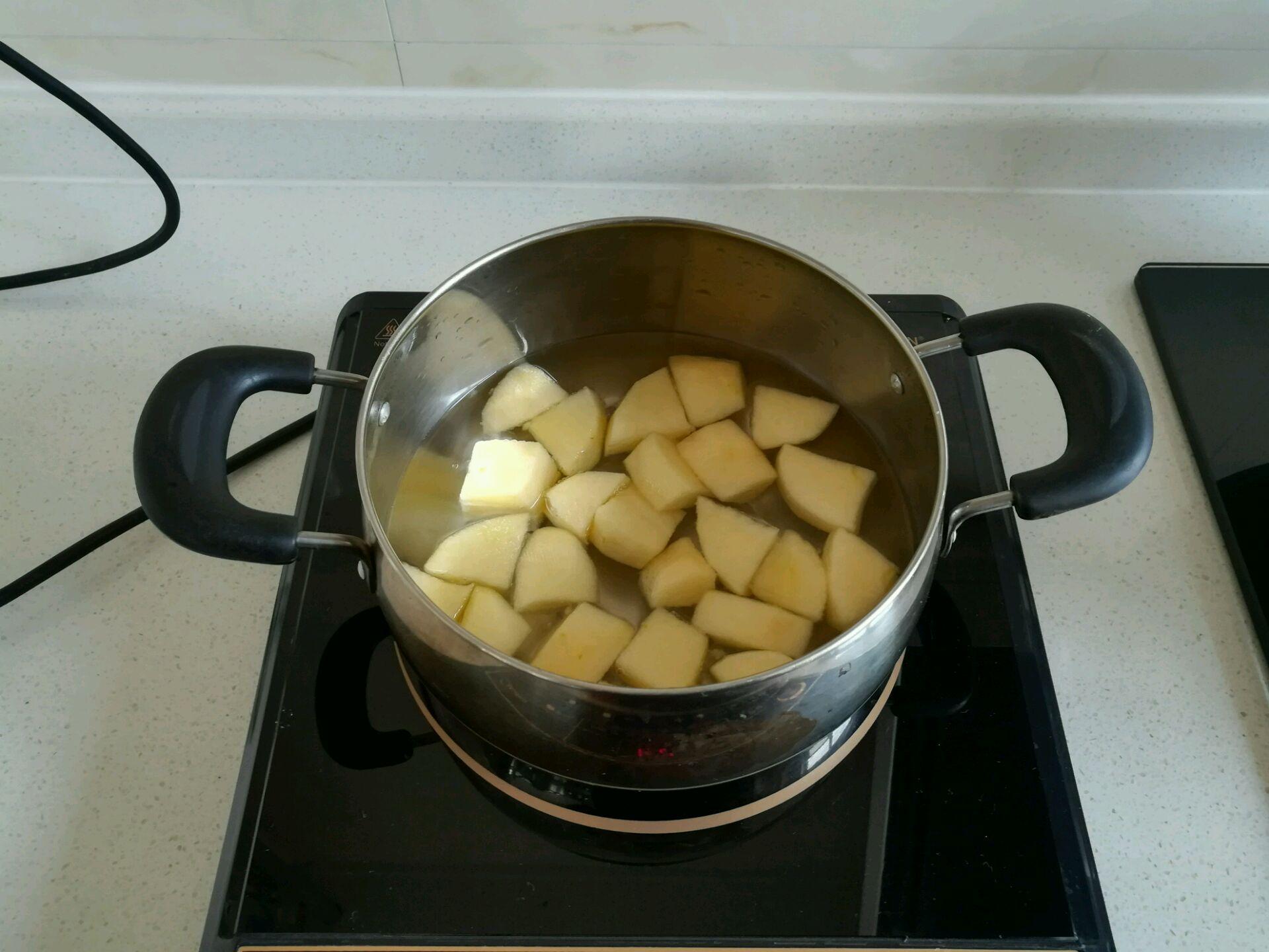 冰糖微波炉_煮苹果的做法_菜谱_豆果美食