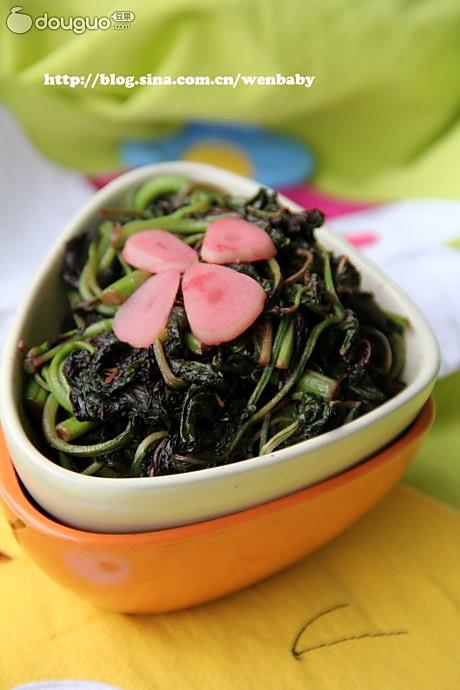 春蒜炒苋菜的做法