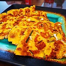 辣白菜海鲜饼