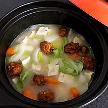 砂锅白菜豆腐丸子汤(附丸子做法)