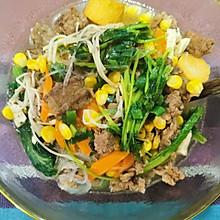 减脂肥牛金针菇蔬菜汤