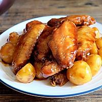 无油红烧鸡翅土豆的做法图解11