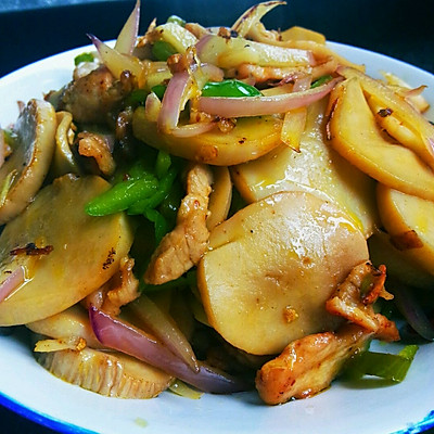 猪肉杏鲍菇