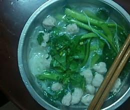 肉丸汤米丝的做法