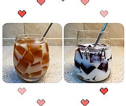 养乐多红茶冻&鲜奶咖啡冻的做法