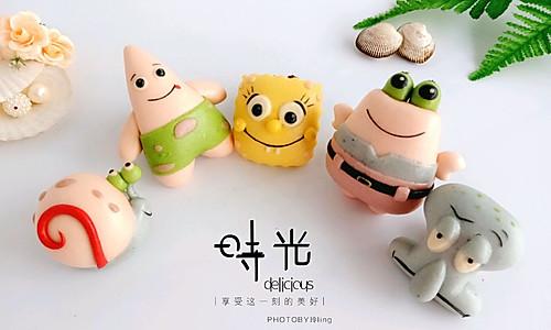 海绵宝宝卡通造型馒头的做法