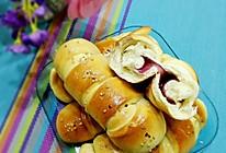 果酱面包卷(8个量,手工和面团)的做法