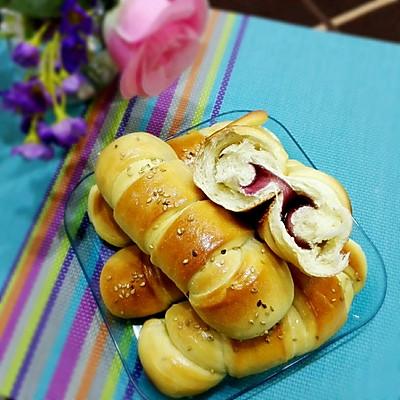 果酱面包卷(8个量,手工和面团)