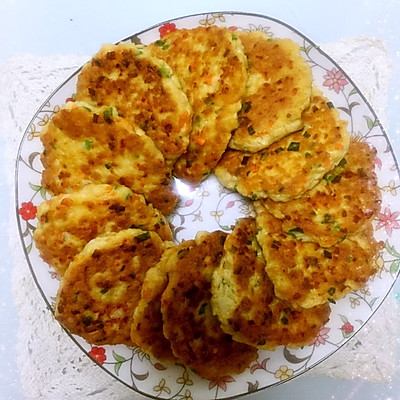香煎虾仁豆腐饼