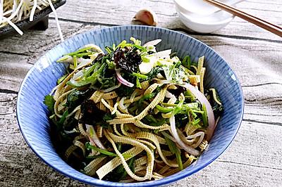 素食主义——菠菜拌豆皮
