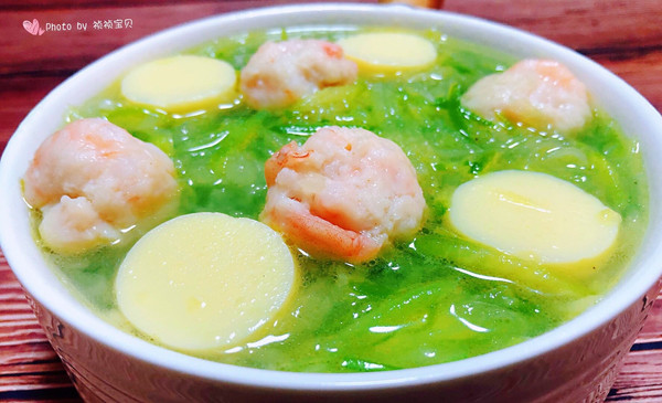 萝卜丝虾滑豆腐汤的做法