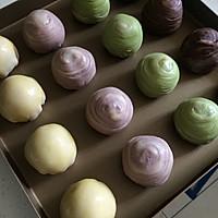 可以开个稻香村了——蛋黄酥&香芋酥&抹茶酥&巧克力酥的做法图解23