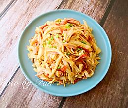 #快手又营养,我家的冬日必备菜品#:蟹黄饭的做法
