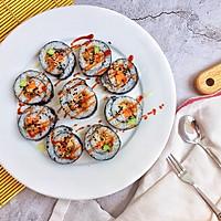#爽口凉菜,开胃一夏!#肉松寿司卷的做法图解14