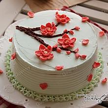 【梅花裱花蛋糕】